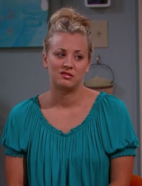 Penny's green top on BBT