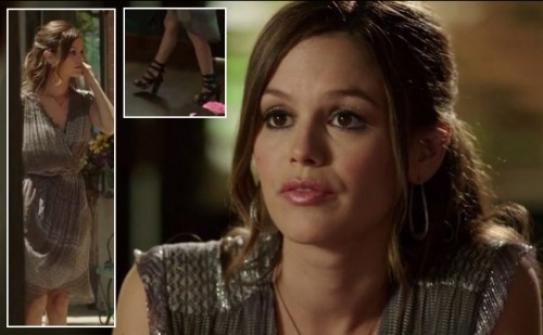 Rachel Bilson's wrap dress and shoes on Hart of Dixie
