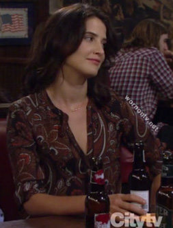 Robin's brown paisley blouse on How I Met Your Mother