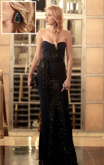 Serena's sequin bustier gown on Gossip Girl season 6