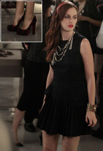 Leighton Meester's check dress on Gossip Girl season 6