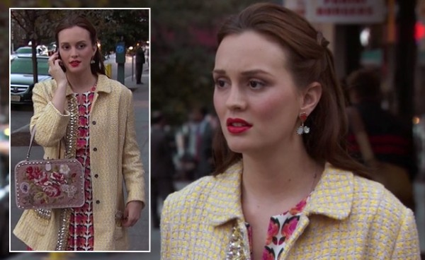 Blair Waldorf's yellow embellished coat on Gossip Girl season 6