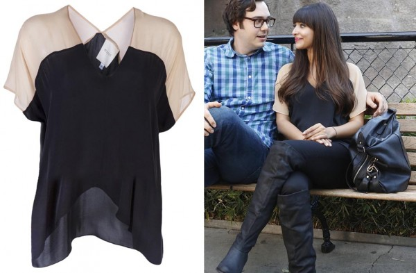 Cece's black and cream shirt on New Girl