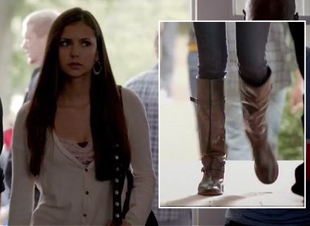 Nina Dobrev's boots on Vampire Diaries season 4