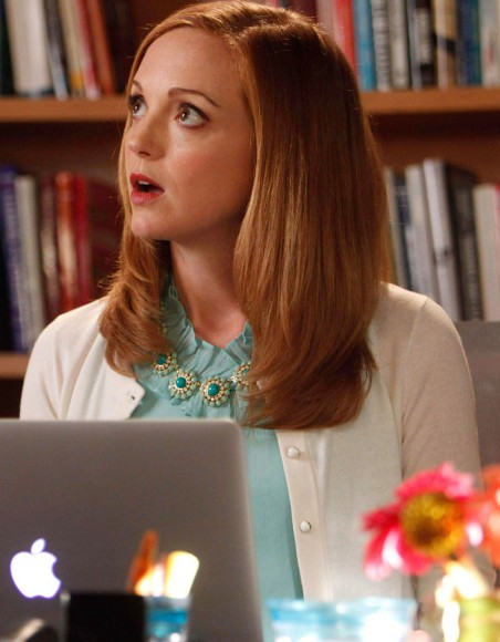 Emma Pillsbury's green and gold flower necklace on Glee