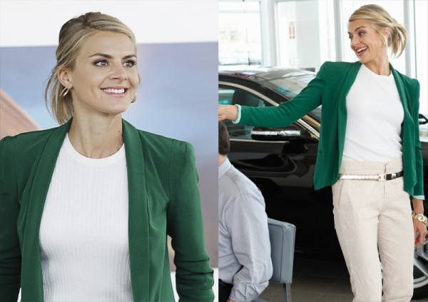 Jane's green blazer on Happy Endings