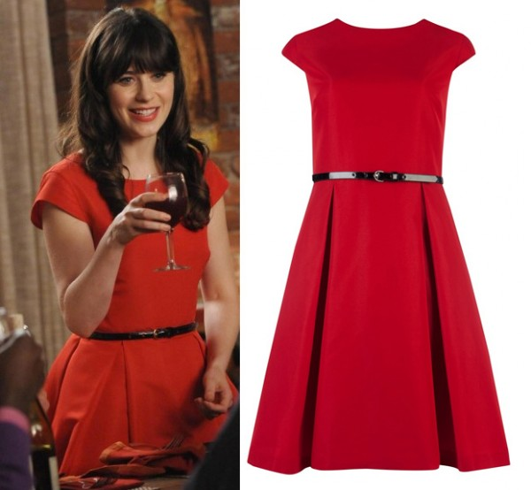 Jess Days red thanksgiving day dress