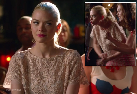 Lemon's cream lace top on Hart of Dixie