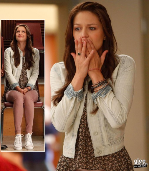 Marleys white denim jacket on Glee