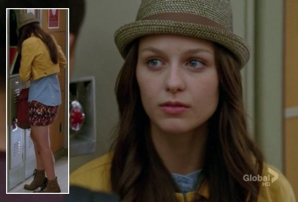 Marley Rose's yellow denim jacket on Glee