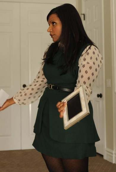 Mindy Kaling's green dress on The Mindy Project