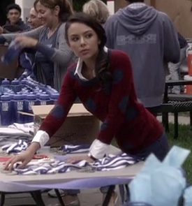Mona's red sweater with blue polka dots on Pretty Little Liars