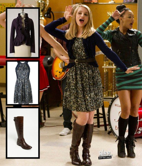 Quinn's brown boots on Glee