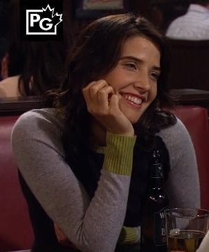 Robins block colored sweater on How I Met Your Mother season 8