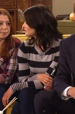 Robin's grey striped sweater on How I Met Your Mother