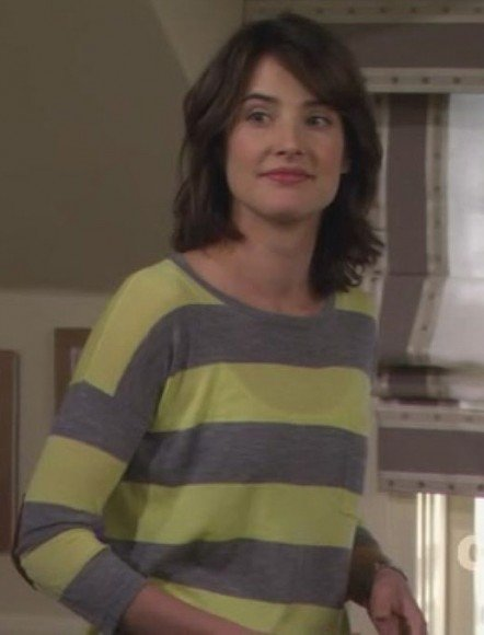 Robin's yellow and grey stripey top on HIMYM