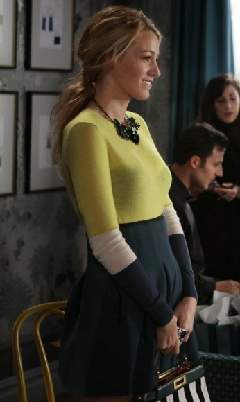 Blake Liveley's yellow and green dress on Gossip Girl