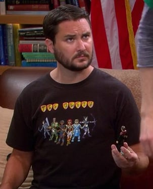 "Wil Wheaton's ""The Guild"" tshirt on The Big Bang Theory"