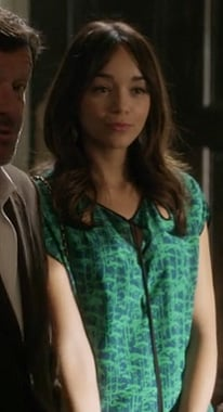Ashley's green keyhole blouse on Revenge