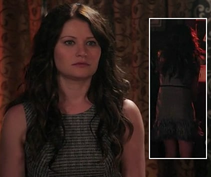 Belle's tweed dress with ruffles on Once upon a time