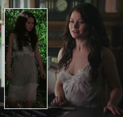 Belle's grey chemise on Once Upon A Time