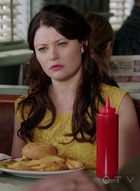 Belle's yellow lace dress on Once Upon A Time