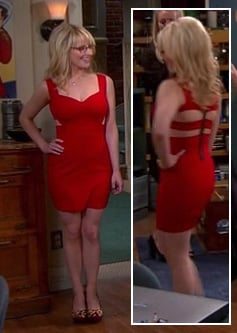 Bernadette's red mini dress on Big Bang Theory