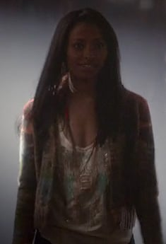 Bonnie's multi colored cardigan on The Vampire Diaries