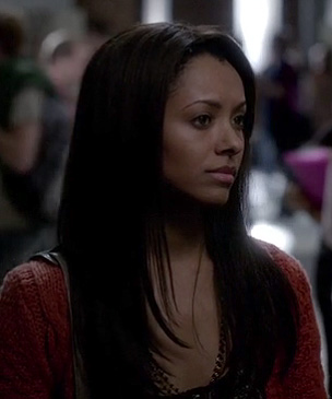 Bonnie's orange cable knit cardigan on The Vampire Diaries