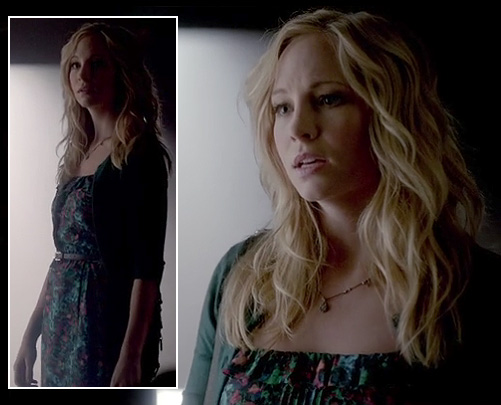 Carolines floral dress on The Vampire Diaries