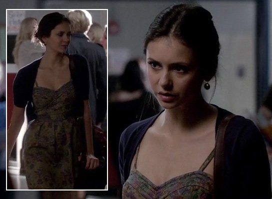 Elena's brown/multi colored dress on The Vampire Diaries