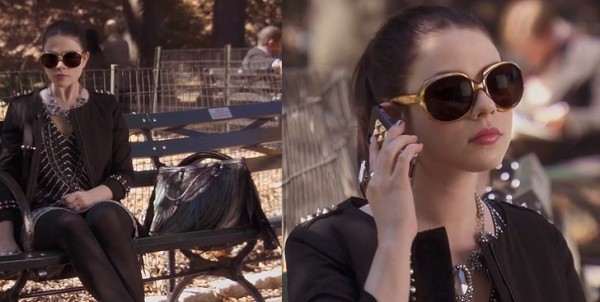 Georgina's big sunglasses on Gossip Girl