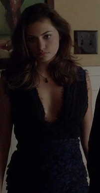 Hayley's blue and black dress on The Vampire Diaries