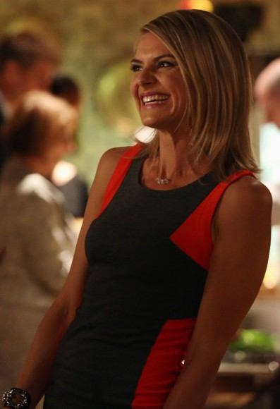 Jane's red and black mini dress on Happy Endings
