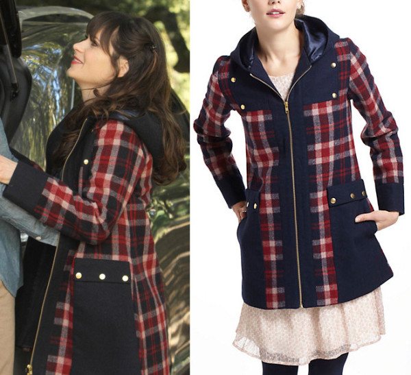 Jess Days checked jacket on New Girl