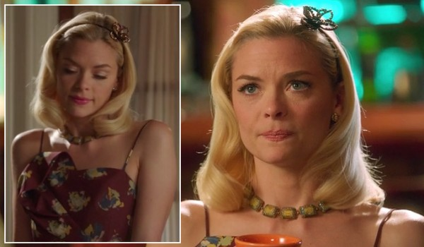 Lemon's burgundy asymmetric dress on Hart of Dixie