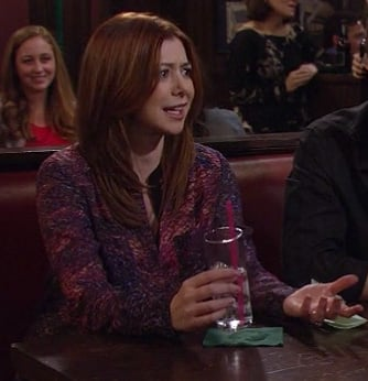 Lily's purple and pink shirt on HIMYM Season 8