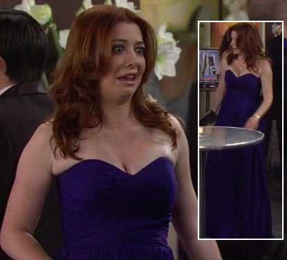 Lily's purple strapless dress on HIMYM Season 8