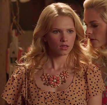 Magnolias polka dot blouse with bow on Hart of Dixie