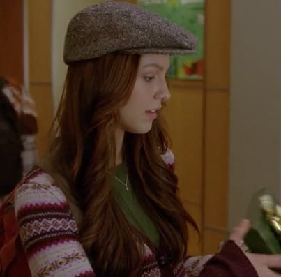 Marley's patterned cardigan on Glee