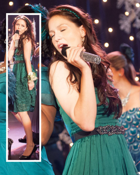 Marley's green dress with flowers on Glee