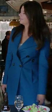 Penny's blue coat on Happy Endings