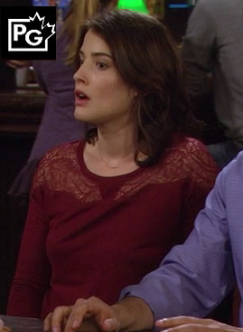 Robin's red lace top on How I Met Your Mother