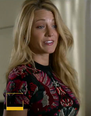 Blake Lively's embroidered dress on Gossip Girl