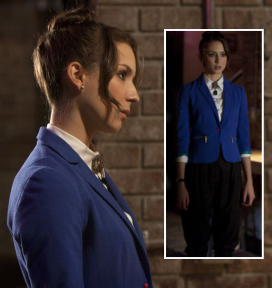 Spencer's blue blazer on PLL