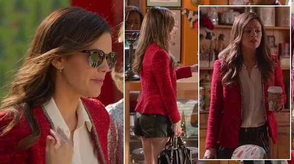 Rachel Bilsons red jacket and sunglasses on Hart of Dixie