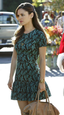 Rachel Bilsons black and green dress on Hart of Dixie