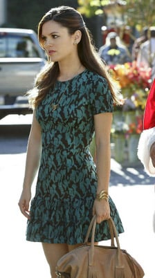 Zoe's green and black dress on Hart of Dixie Christmas episode