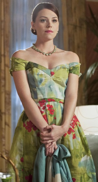 Annabeth's green blossom print dress on Hart of Dixie