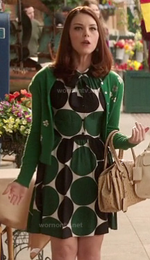AnnaBeth's green polka dot dress on Hart of Dixie